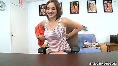 Sabrina Taylor comes into our office to take it all off