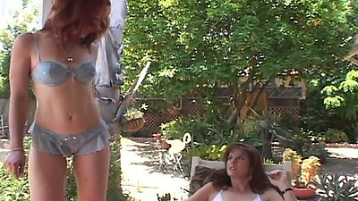 Outdoor milf lesbian women Rachael Rains an dTrinity Post