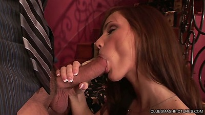 Big dick Lily Carter blowjob doing bitch